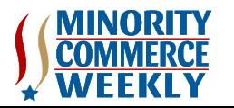Minority Commerce Weekly Logo